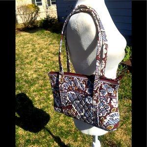 Vera Bradley's Quilted Cotton Satchel & Makeup Bag